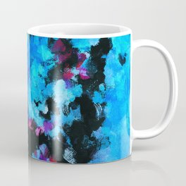 Teal (Blue) Abstract Acrylic Painting Coffee Mug