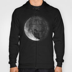The crow and its moon. Hoody