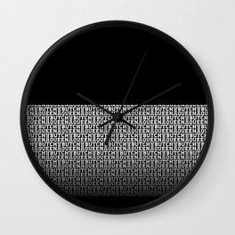 BQ - fade 2 -blk Wall Clock
