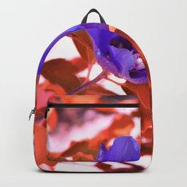 Alien landscape orange autumn surreallist flowers Backpack