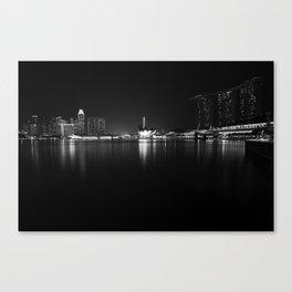 Singapore's sky line at dusk. Canvas Print