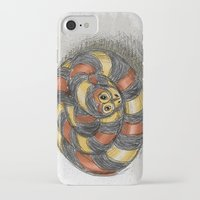snake iPhone & iPod Cases featuring Snake by Michelle Behar