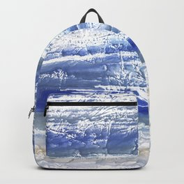 Gray Blue Marble blurred watercolor texture Backpack