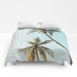 Palm Tree Beach Summer Comforters