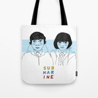 submarine Tote Bags featuring Submarine by ☿ cactei ☿