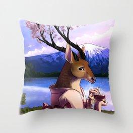Lady Cerezo Throw Pillow