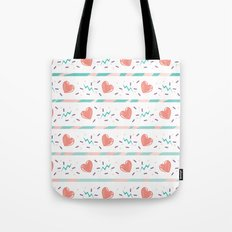 minty heart lightning Tote Bag