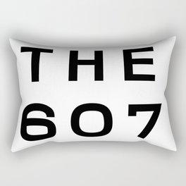 607 New York Area Code Typography Rectangular Pillow
