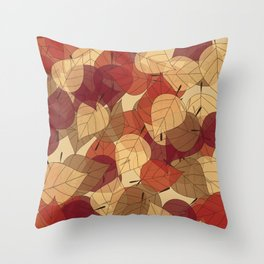 Fallen Leaves Large Throw Pillow