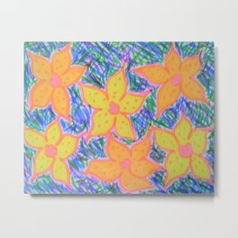 Refreshing Summer Flowers Metal Print