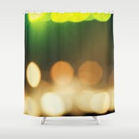 bokeh Shower Curtains featuring Bokeh by Diana Eastman