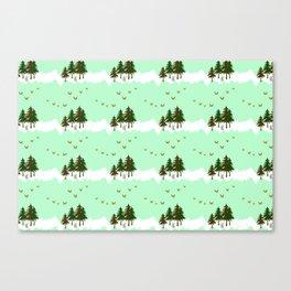 Mint Forest Canvas Print