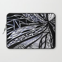 Gaia's Garden in Black & White 3 Laptop Sleeve