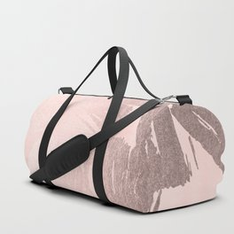 Rose Gold Pastel Pink Paint Brush Duffle Bag