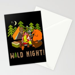 Camping Wild Night Stationery Cards
