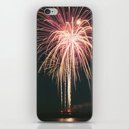 Fireworks Over Lake Michigan in Manistee iPhone Skin