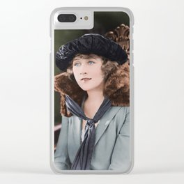 1920s Silent Film Star Clear iPhone Case
