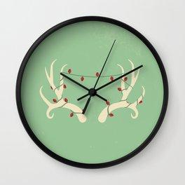 Antler Lights Wall Clock