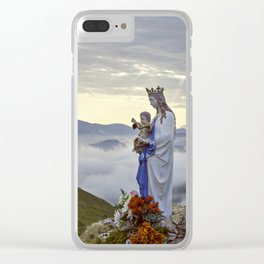 Vierge d'Orisson; Camino Frances Clear iPhone Case