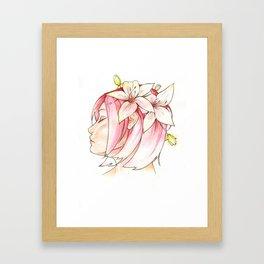 Sakura & Lilies Framed Art Print