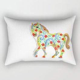 """caballo I"" serie : animales dométicos. Rectangular Pillow"