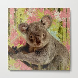 Koala Bear Digital Art Metal Print