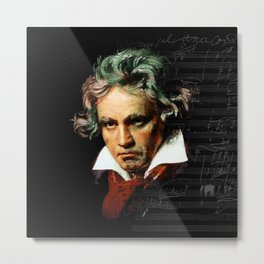 Beethoven - Music Demon Metal Print