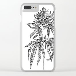 Cannabis Illustration Clear iPhone Case