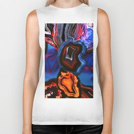 Agate, What springs from Earth dissolves to Earth again Biker Tank