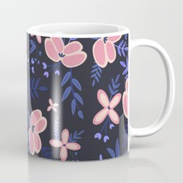 Pink Flowers Pattern 1 Coffee Mug