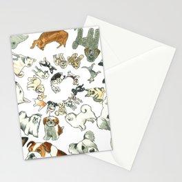 Dog Swirl World Stationery Cards