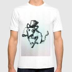 Scribble Mouse MEDIUM Mens Fitted Tee White