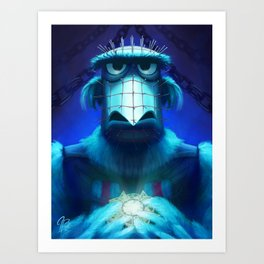 Muppet Maniac - Sam the Eagle as Pinhead Art Print