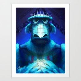 Muppet Maniac - Sam the Eagle as Pinhead Art Print