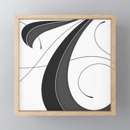 Letter A - Script Lettering Cropped Design Framed Mini Art Print