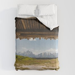 A Cabin and the Tetons Comforters