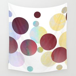 Dots in Pink Texture Wall Tapestry
