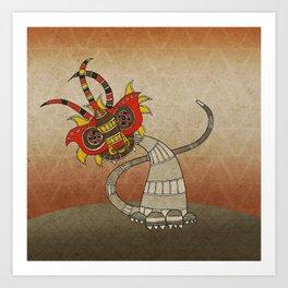Masquerade in Africa II Art Print