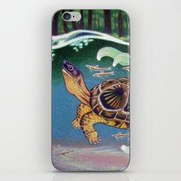 Wood Turtle Color Pencil Artwork iPhone Skin