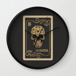 Tarot card La Calavera Wall Clock