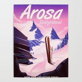 Arosa Switzerland ski Poster