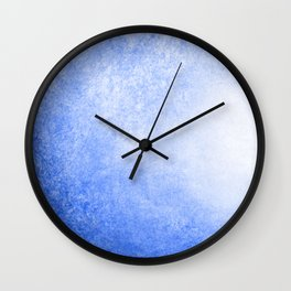 Blue and White Abstract Wave Wall Clock