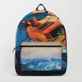 African American Masterpiece, At Any Cost, The Gulf Stream seascape landscape painting Backpack