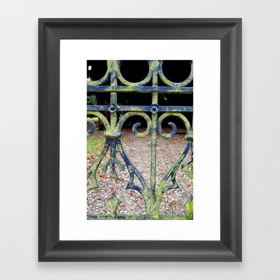 Heart and swirls Framed Art Print
