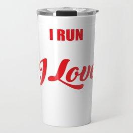 I Run Because I Love Bacon for Runners Travel Mug