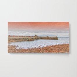 Saltcoats Harbour Metal Print