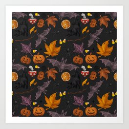 October pattern Art Print