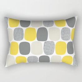 Wonky Ovals in Yellow Rectangular Pillow