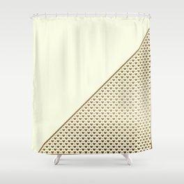 Heartless 2 - Yellow + Brass Shower Curtain