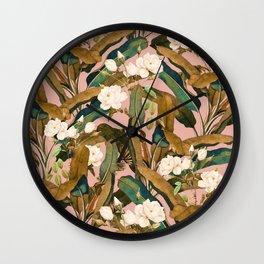 Summer Botanical Garden V Wall Clock